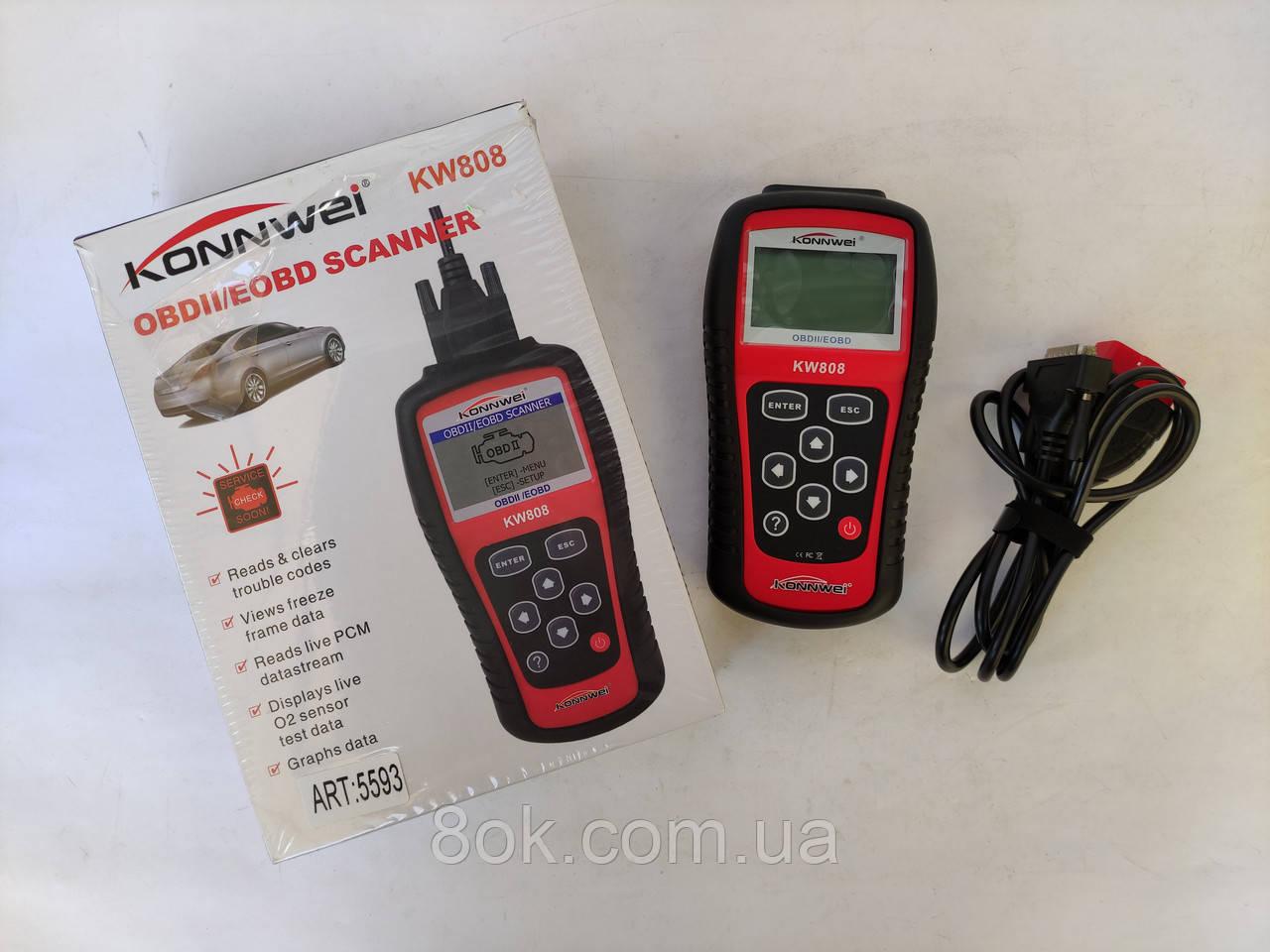 Автомобільний діагностичний сканер Konnwei KW808 OBD II / EOBD