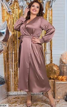 Сукня жіноча XL шоколадного кольору з шовку