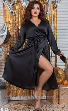 Сукня жіноча XL чорного кольору з шовку