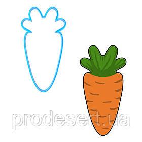 Вирубка для пряників Морквина 9*5 см (3D)