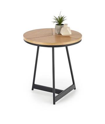 Журнальный круглый деревянный стол KARIDA -S 45х45х49 (Halmar), фото 2