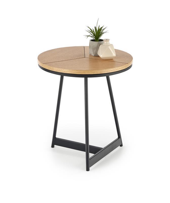 Журнальный круглый деревянный стол KARIDA -S 45х45х49 (Halmar)