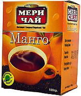 """Чай черный индийский """"MeriChai"""" 100г с """"Манго"""" (+ложка)"""