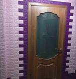 Самоклеющиеся 3Д панели, декоративные стеновые панели 5 мм, Светло-фиолетовый кирпич, фото 5