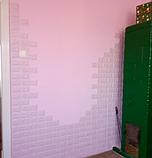 Самоклеющиеся 3Д панели, декоративные стеновые панели 5 мм, Светло-фиолетовый кирпич, фото 4