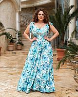 Жіноче довге плаття великого розміру.Розміри:50/64+Кольору, фото 1