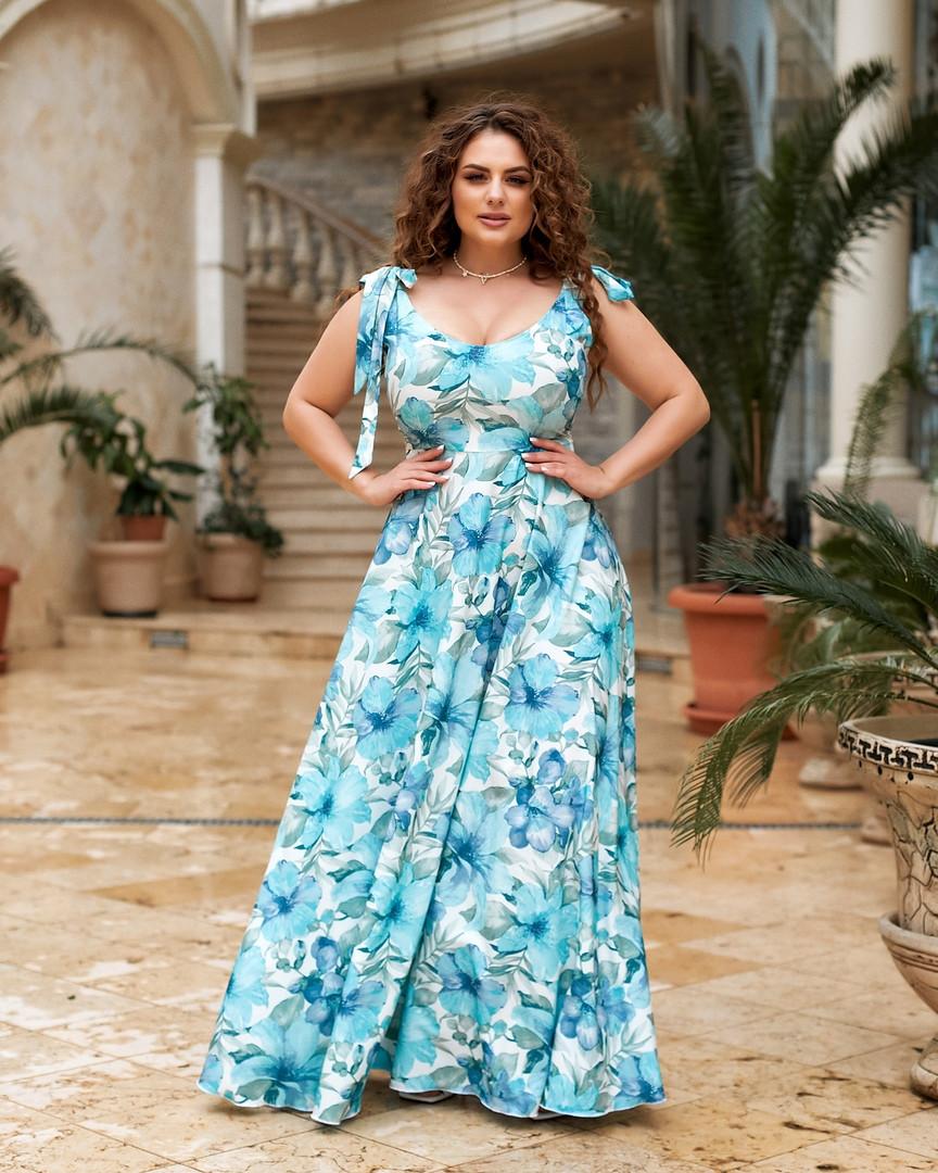 Жіноче довге плаття великого розміру.Розміри:50/64+Кольору