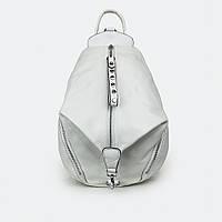 Городской рюкзак  женский кожаный белый большой 28*25*14, фото 1