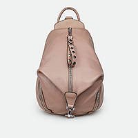 Модный рюкзак женский кожаный розовый 2559 большой, фото 1