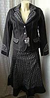 Костюм женский нарядный двойка пиджак юбка Matini р.44-46 4785, фото 1