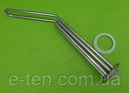 Тэн ИЗОГНУТЫЙ для бойлера Thermex 2000 W (на фланце Ø72мм) из нержавейки / с 2 трубками под термостаты