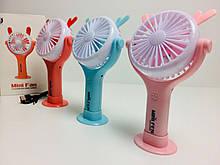 Вентилятор 2в1 аккумуляторный  ручной, настольный с LED подсветкой 4.5W CS-092 (120 шт/ящ)