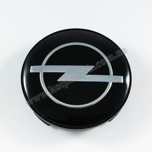 Ковпачок для диска Opel чорний / хром лого (59 мм)