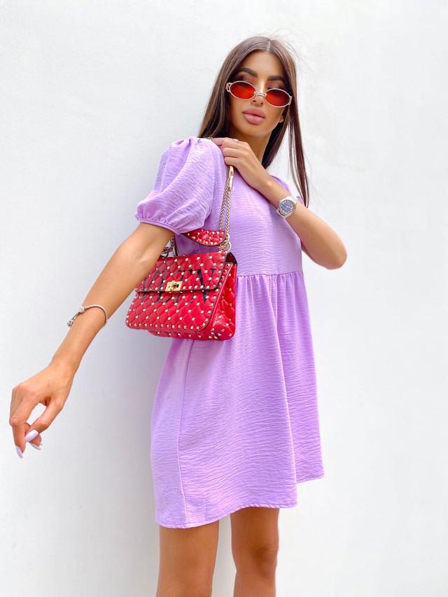Лёгкое повседневное женское платье свободного кроя