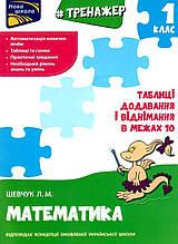 Нова школа 1 клас Тренажер з математики Таблиці додавання і віднімання у межах 10 Шевчук Л. АССА