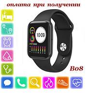 Розумні Smart Watch смарт фітнес браслет годинник трекер B08 ПОШТУЧНО на РУССОКОМ стиль Xiaomi SAMSUNG Apple Watch, фото 1