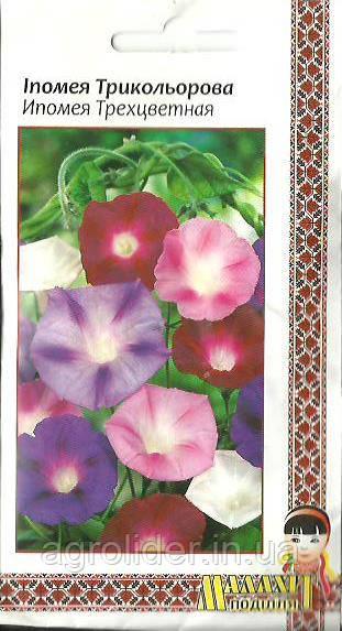 Семена цветов Ипомея Трехцветная 1г (Малахiт Подiлля)