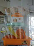 Клетка для хомяка средняя (2 уровня) крыша овал (23*17*32см), фото 2