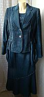Костюм женский нарядный тройка пиджак юбка блузка GF Laigefei р.48 4793