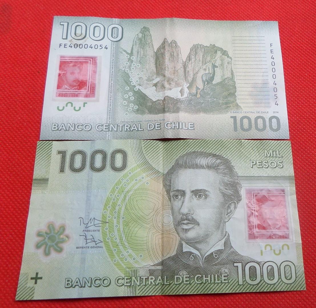 ЧИЛІ 1000 песо 2014р. полімер №77