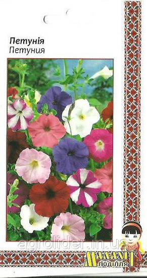Семена цветов Петуния 0.2г (Малахiт Подiлля)