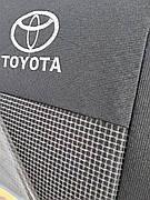 Чохли TOYOTA Corolla до 2013 р. 1/3 спина / задній підлокітник/ 5 подголовникjd/батони/airbag