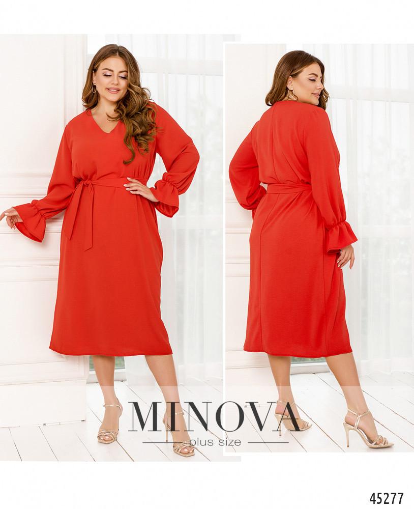 Платье №831-Красный Красный/48-50
