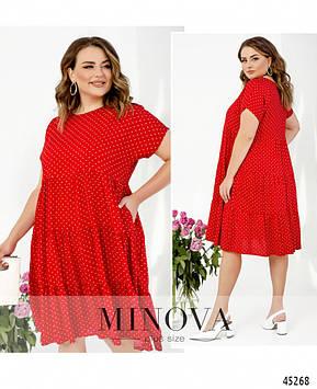 Платье №1025-красный красный/52-54