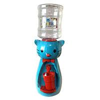 Детский Кулер для воды Котик Голубой
