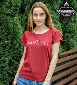 -Р- Футболка женская с отворотом Balenciaga Бордовый (0927жр), L