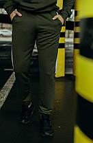 """Чоловічі спортивні штани хакі білий Intruder """"Spirited"""" + Подарунок, фото 3"""