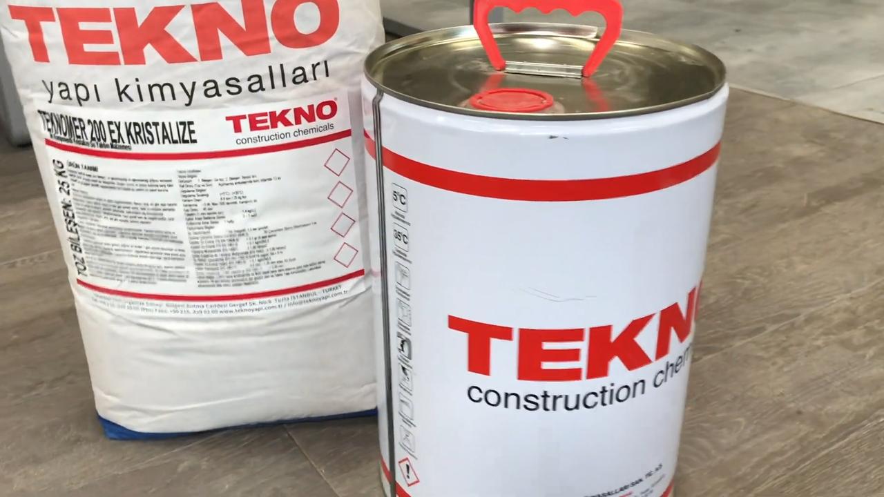 Гидроизоляция проникающего действия полимер-цементная Teknomer 200 EX Cristallized 35 кг.