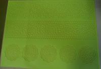"""Коврик для  айсинга """"Цветочный орнамент """" широкий, салатовый СТ013 (код 04607)"""