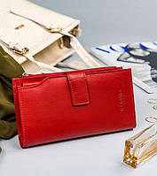Жіночий шкіряний гаманець Badura з RFID 19 х 10 х 2,5 (PO_D119CR_CE) - червоний, фото 1