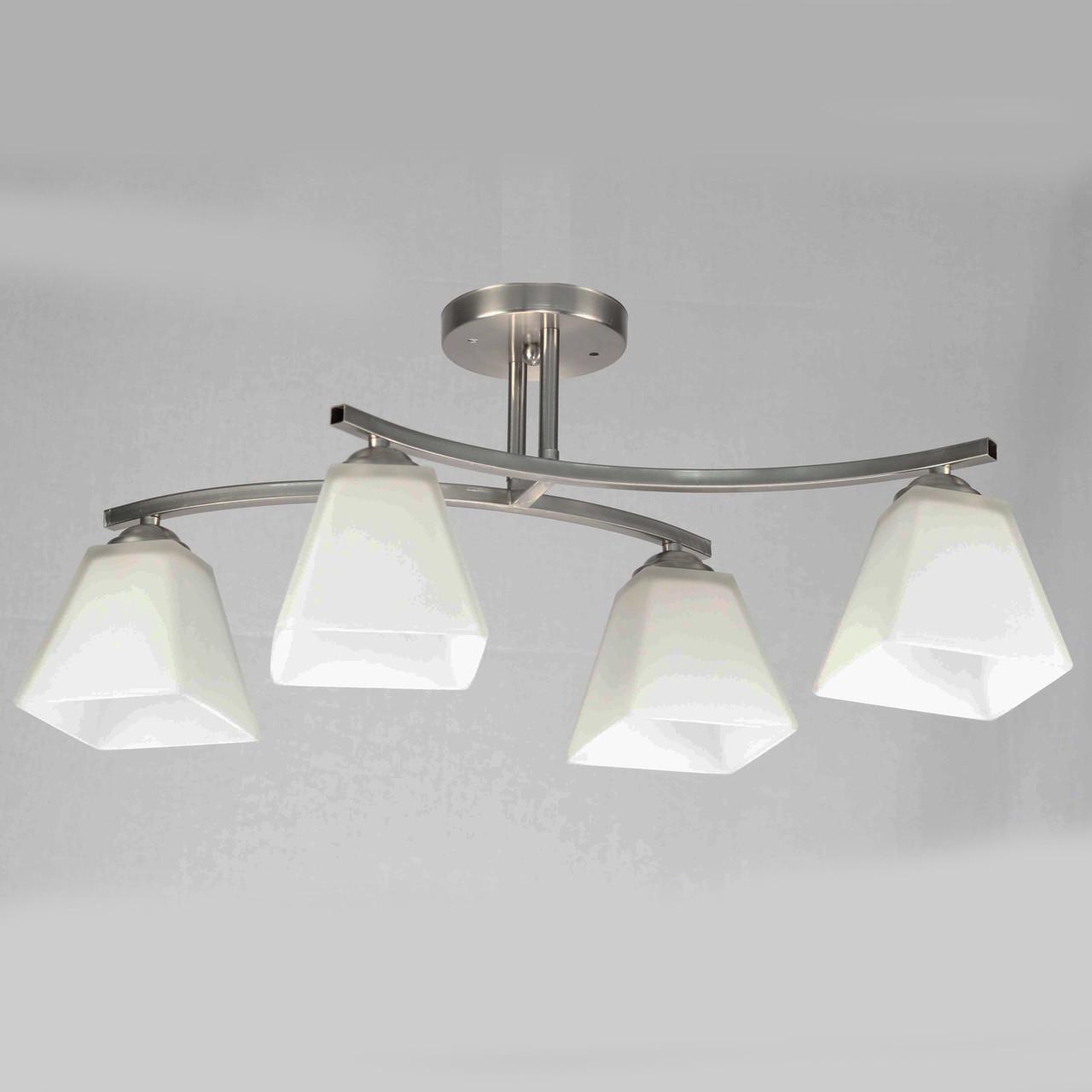 Люстра стельова на 4 лампи 29-A540/4 SN+WT