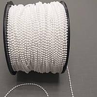 Ланцюжок шнур для ролетних штор d 3мм біла
