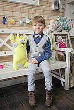 Детский нарядный костюм для мальчика Baby Band Италия 2038 Серый 98