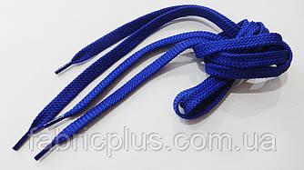 Шнурки в кроссовки плоские 100 см синий василек (10 мм)