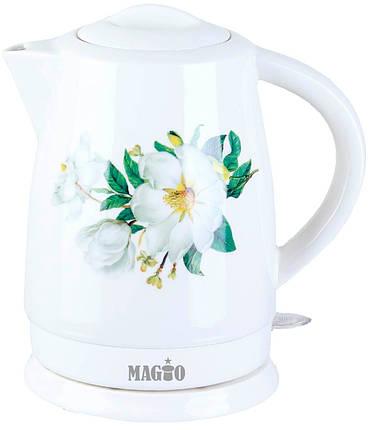 Электрочайник керамический MAGIO МG-124, 1,7 л., фото 2
