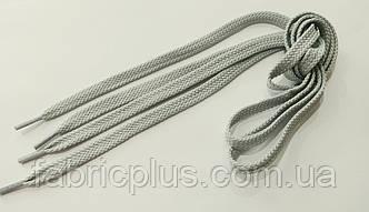 Шнурки в кроссовки плоские 100 см светло-серые (10 мм)