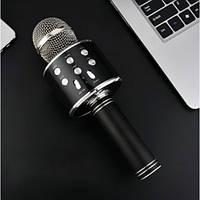 Караоке-микрофон WS-858 с динамиком, эхо Bluetooth черный