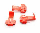 Відгалужувач для проводу обжимний, ізольований, червоний AWG22-18, 0,5-1,0 кв. мм, фото 3