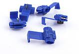 Відгалужувач для проводу обжимний, ізольований, синій AWG18-14, 0,75-2,5 кв. мм, фото 3