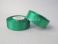 Стрічка атласна 2,5 см зелена