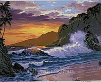 Va-2211 захід сонця на березі океану, фото 1