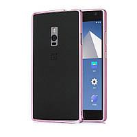 Чехол бампер Aluminium Hippocampal для OnePlus 2 розовый