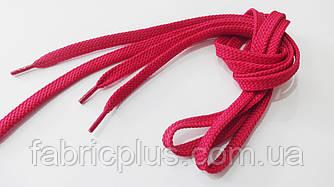 Шнурки в кроссовки плоские 100 см малиновые (10 мм)