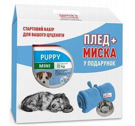 Корм Royal Canin Mini Puppy 2 кг + плед та миска у подарунок