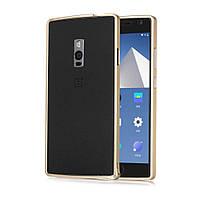 Чехол бампер Aluminium Hippocampal для OnePlus 2 золотой