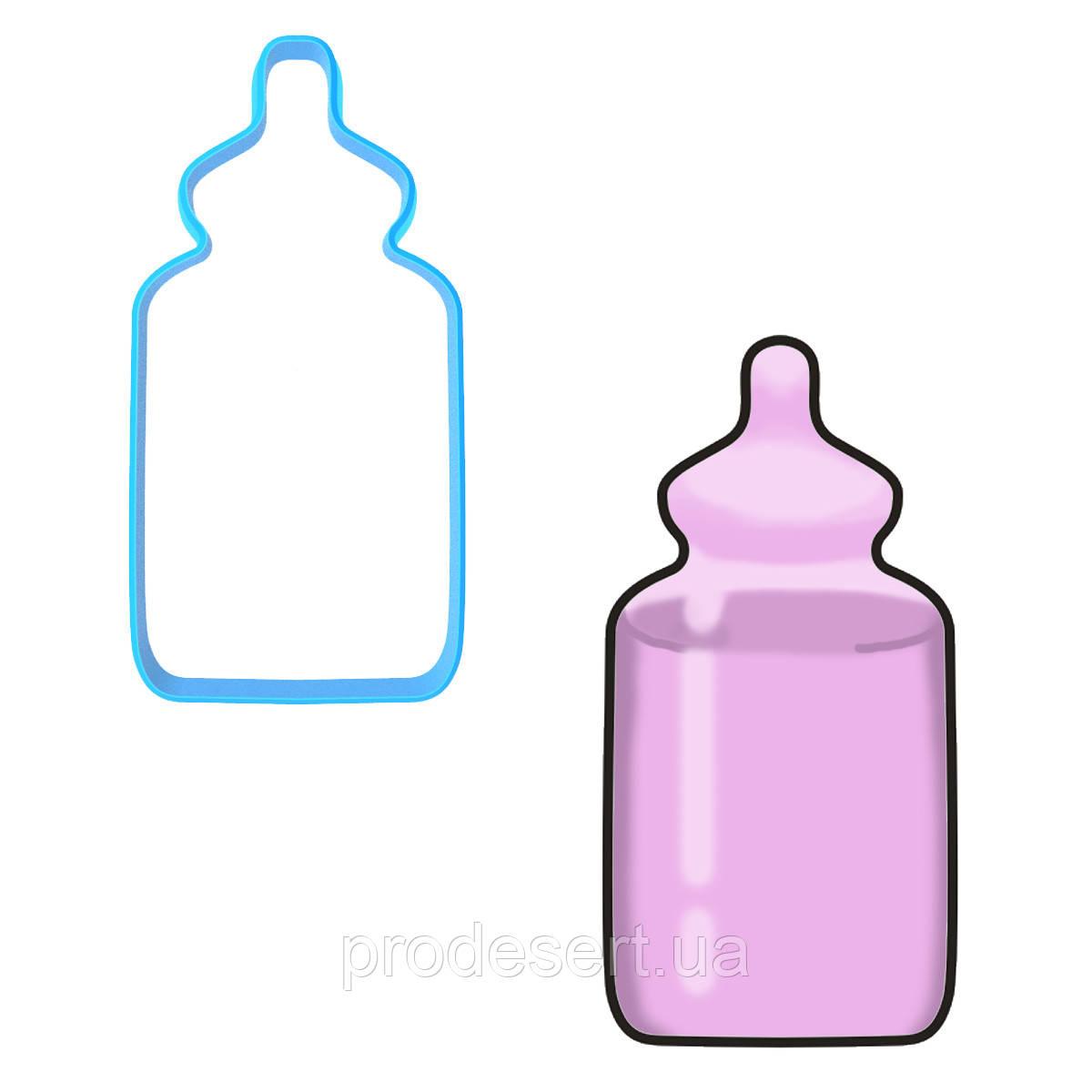 Вирубка для пряників Пляшечка 10*4,9 см (3D)